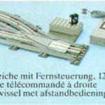 LEGO Katalog 1980 - 12V Züge - Ferngesteuertes Zubehör 1980 12V Züge - Ferngesteuertes Zubehör - Ergänzungssets