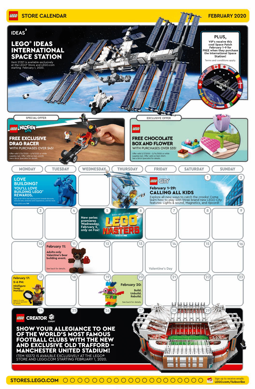 LEGO Store Flyer Februar 2020 Vorderseite