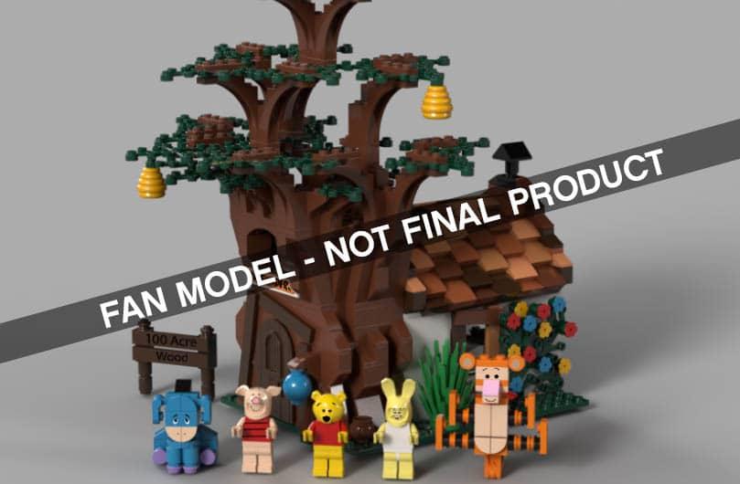 LEGO Ideas Winnie Pooh Entwurf