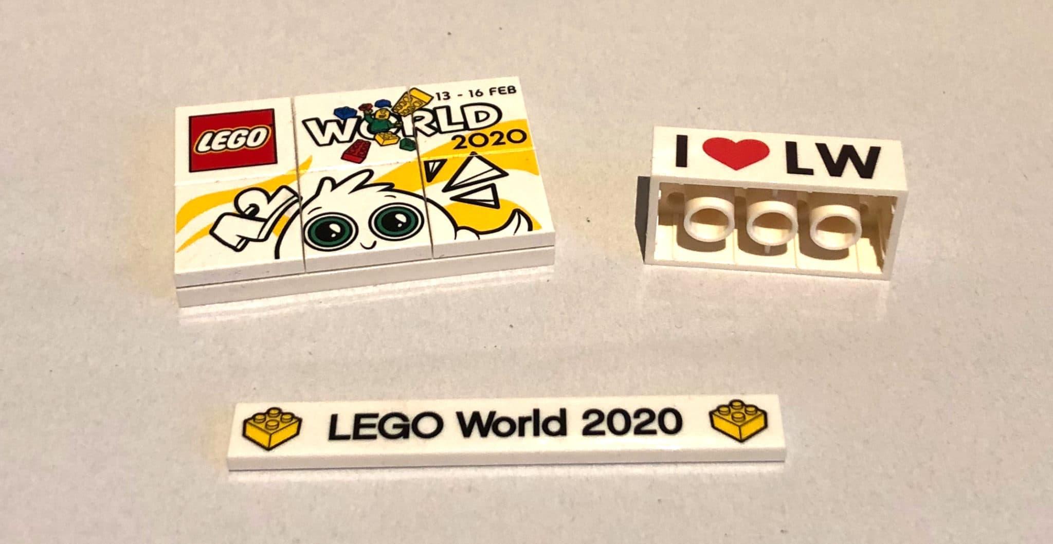 Die exklusiven bedruckten Teile von der LEGO World in Kopenhagen