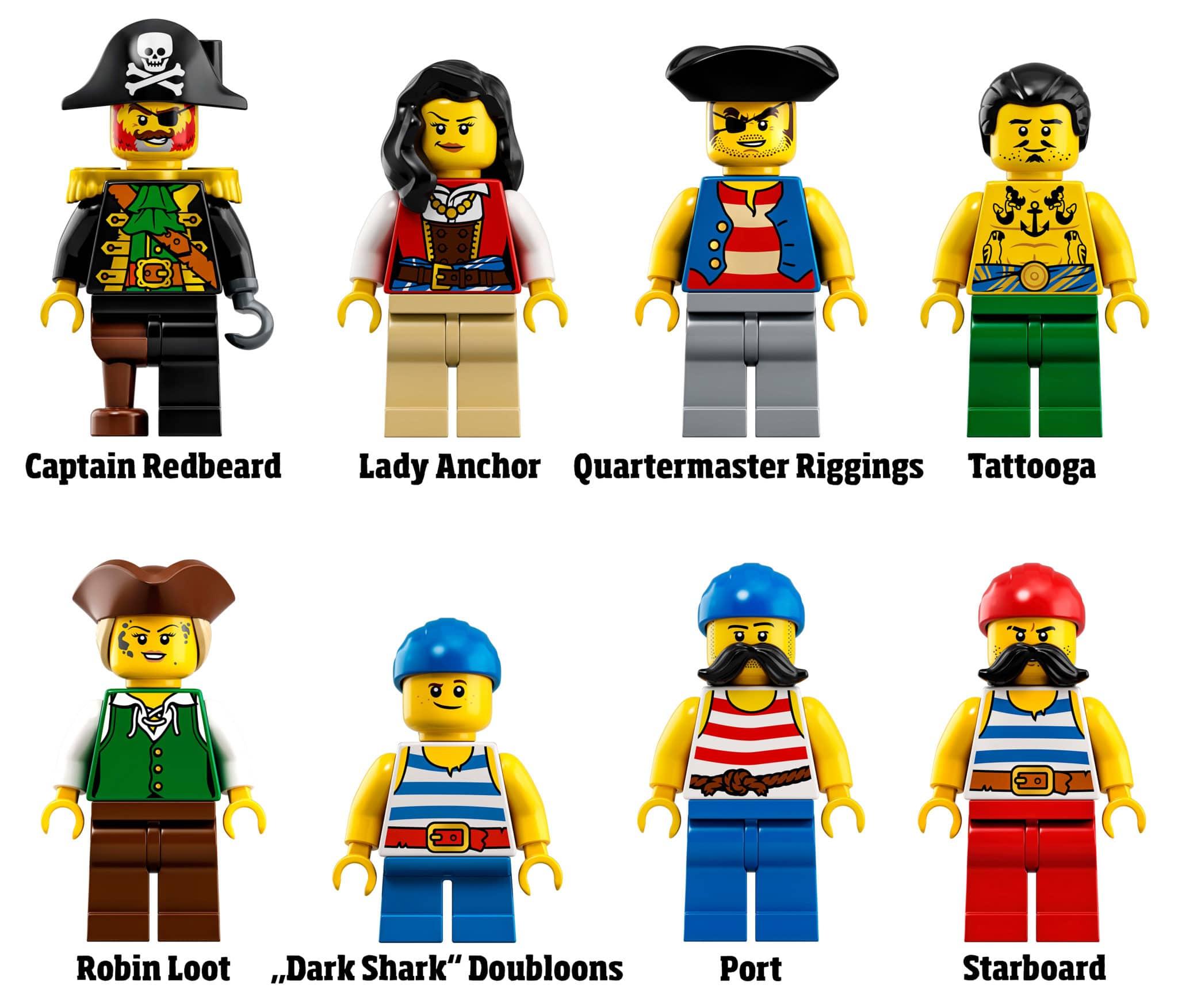 LEGO 21322 Minifiguren: Die Charaktere der Pirates of Barracuda Bay
