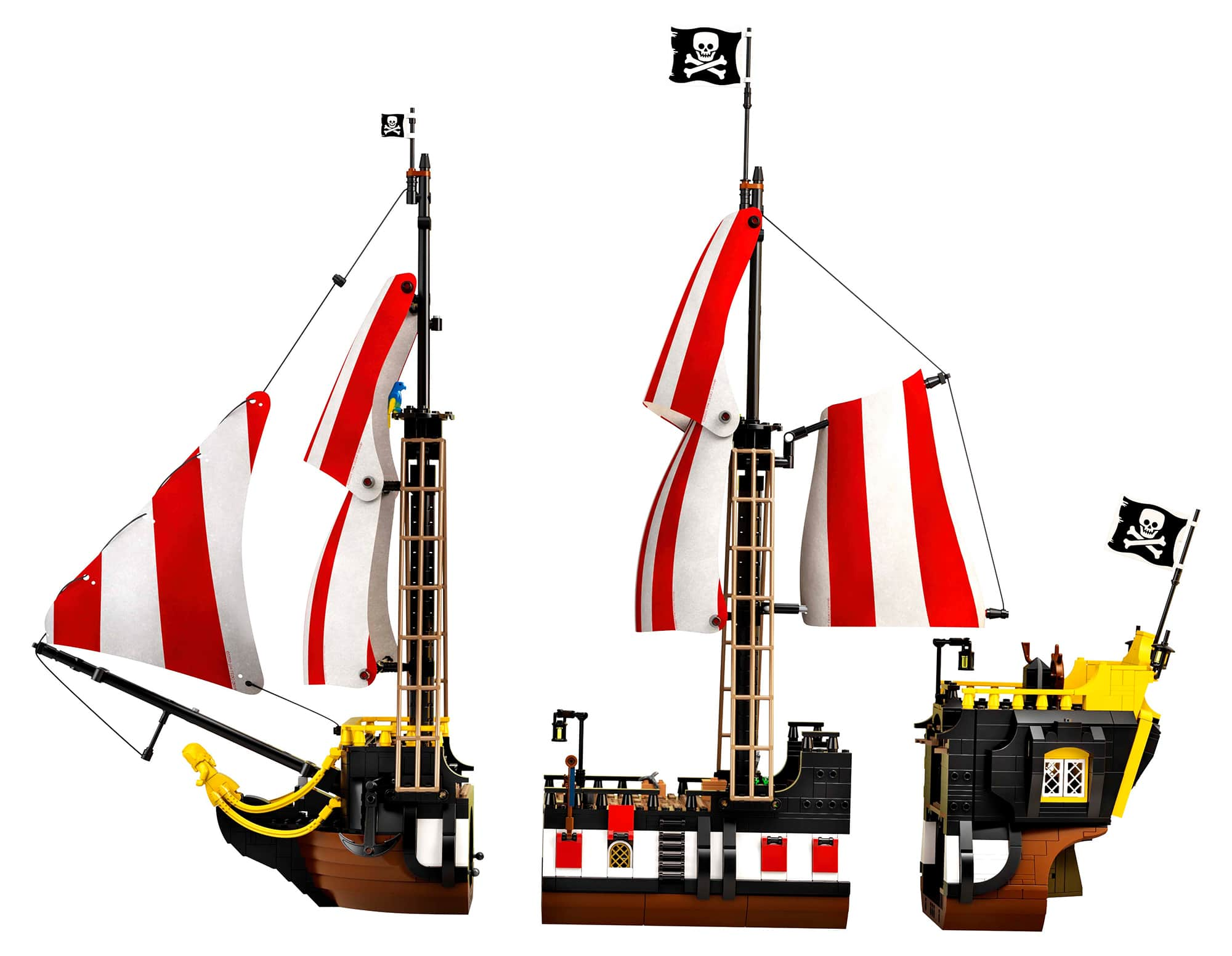 LEGO 21322 Einzelteile der Black Seas Barracuda