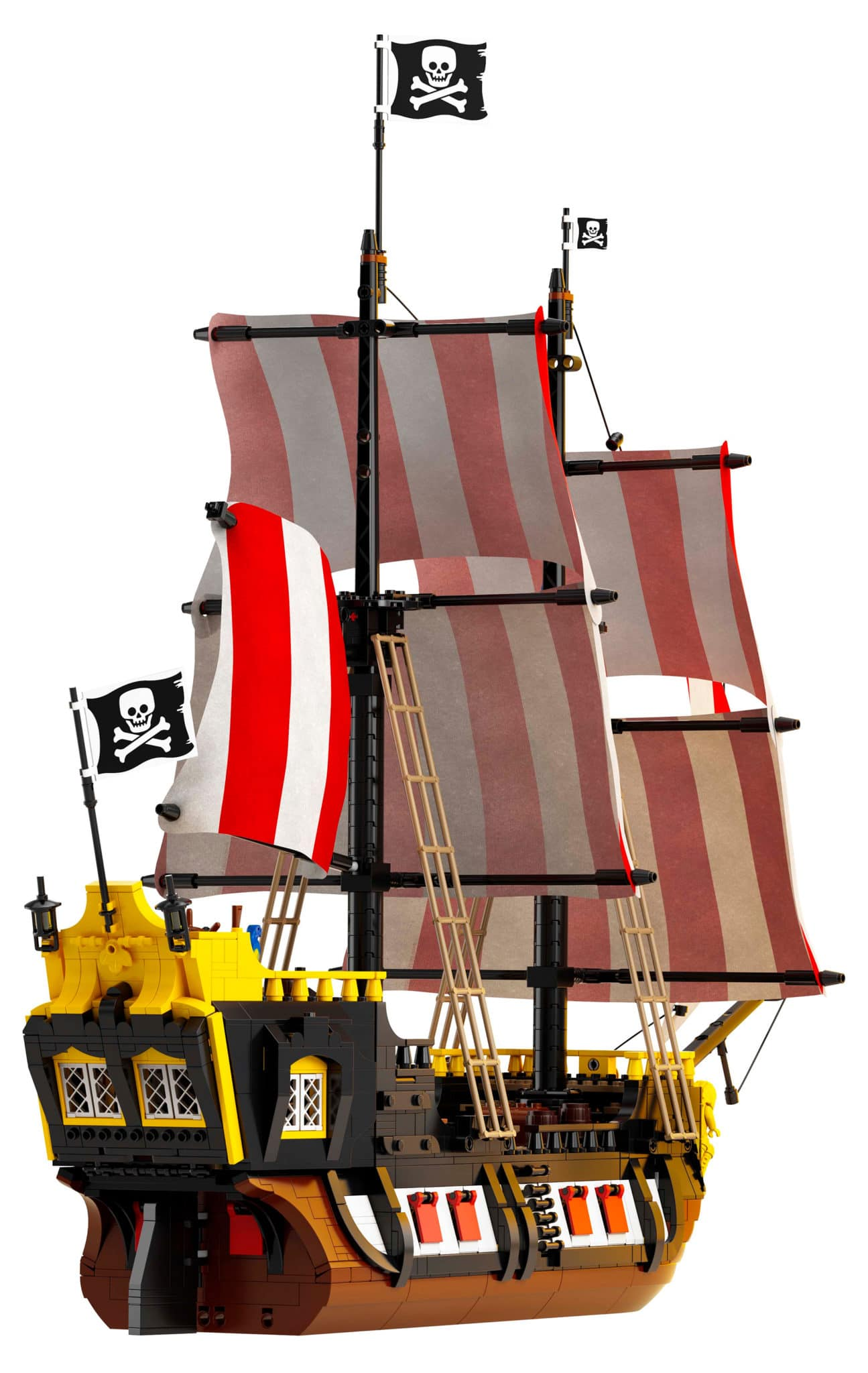 LEGO 21322 Black Seas Barracuda (Rückansicht)
