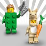 LEGO Minifiguren Serie 20: Green Brick Guy und Llama Kostüm