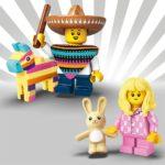 LEGO Minifiguren Serie 20: Junge mit Pinata und Mädchen im Häschen-Schlafanzug