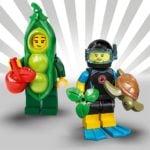 LEGO Minifiguren Serie 20: Erbsenschoten-Kostüm und Taucherin