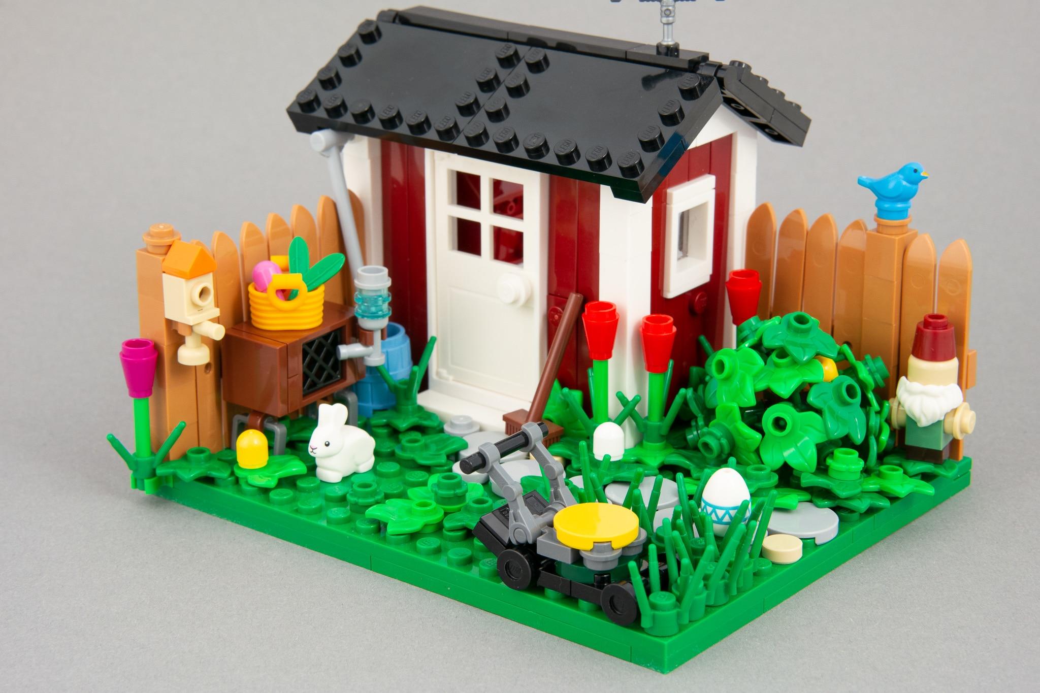LEGO MOC Garten mit Gartenhütte