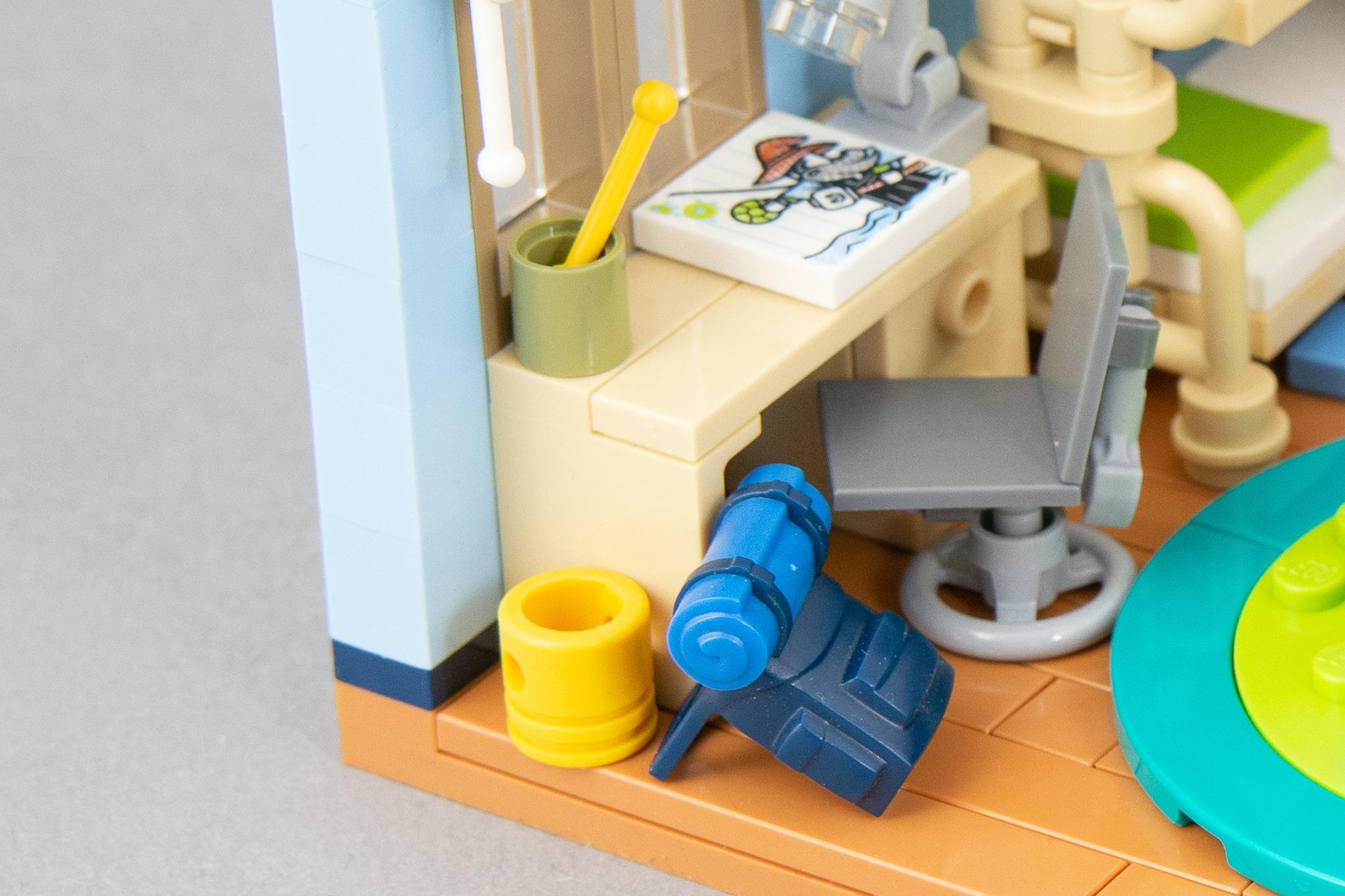 LEGO Schreibtisch Mülleimer