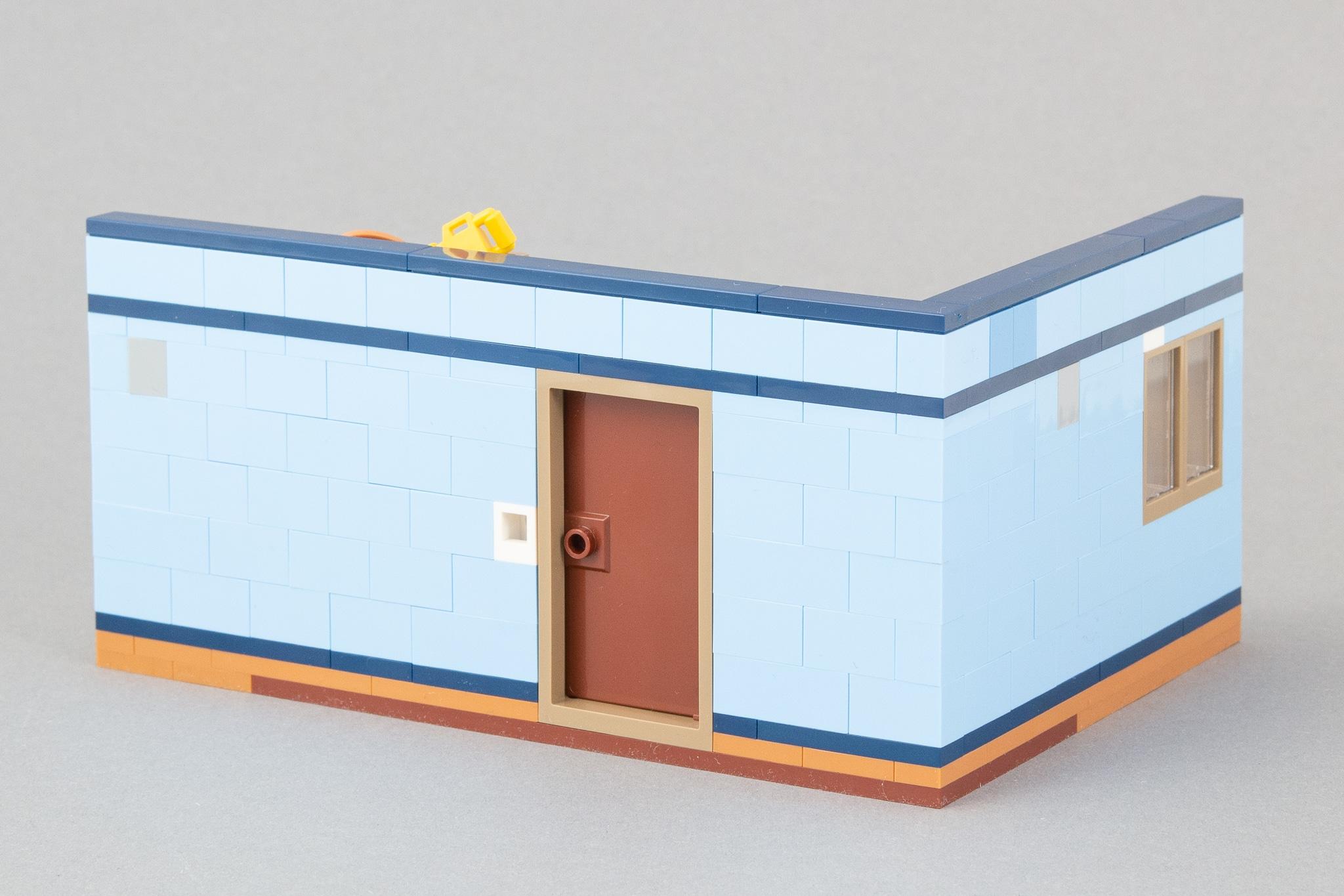 LEGO MOC Kinderzimmer Rückseite