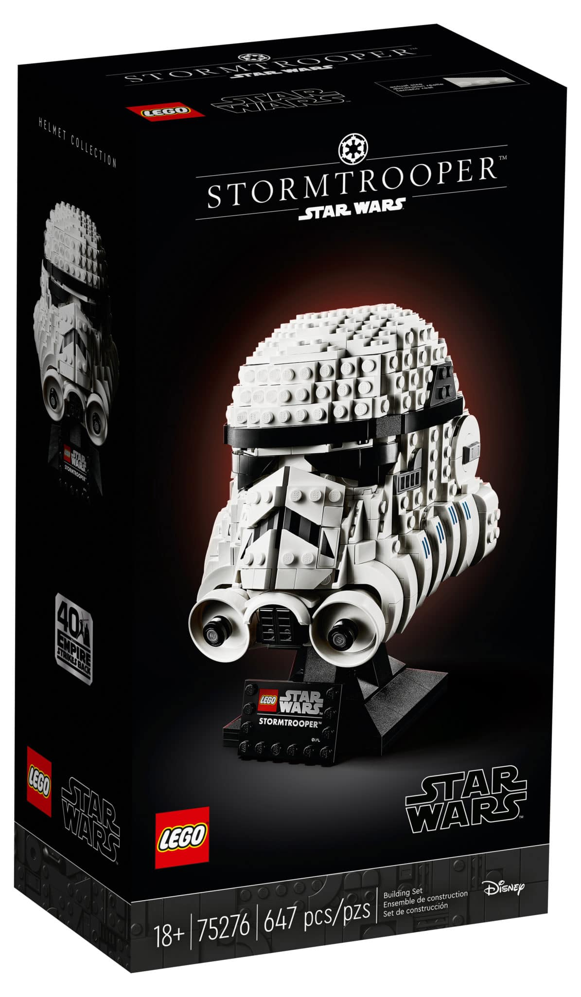 LEGO Star Wars 75276 Stormtrooper Helm Box von vorne