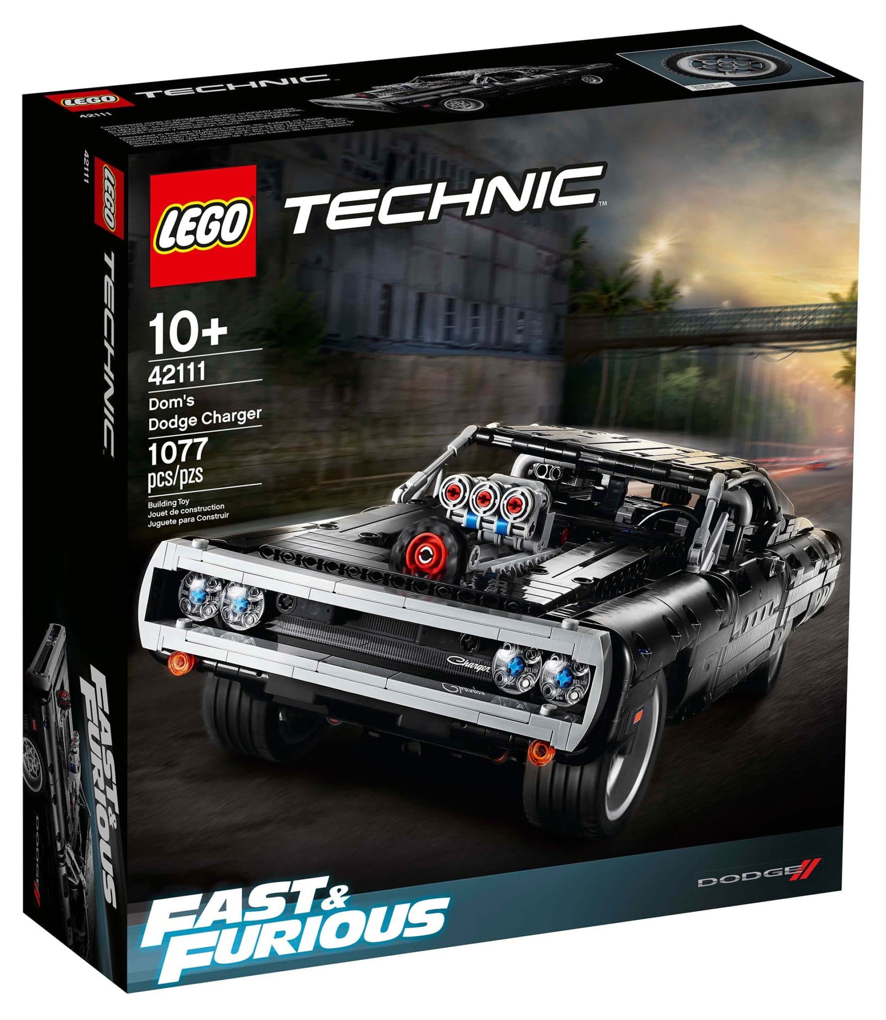 LEGO Technic 42111 Dom's Dodge Charger Box vorne