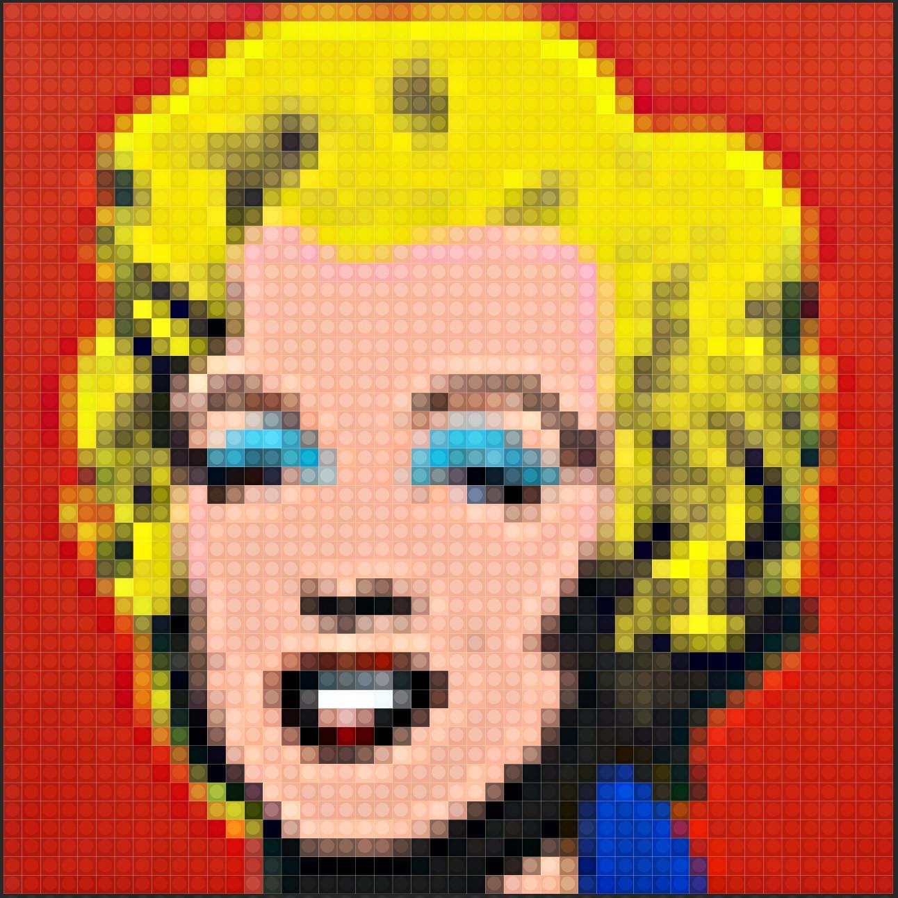Marilyn Monroe in 48x48 Pixeln