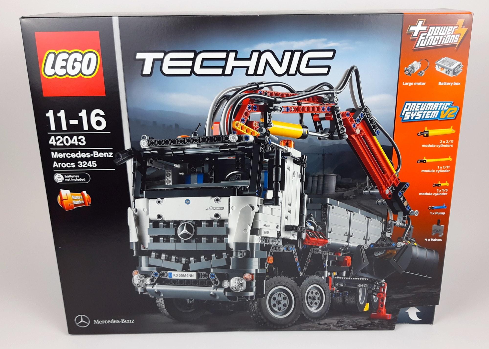 LEGO Technic 42043 Mercedes-Benz Arocs 3245 Box Vorderseite