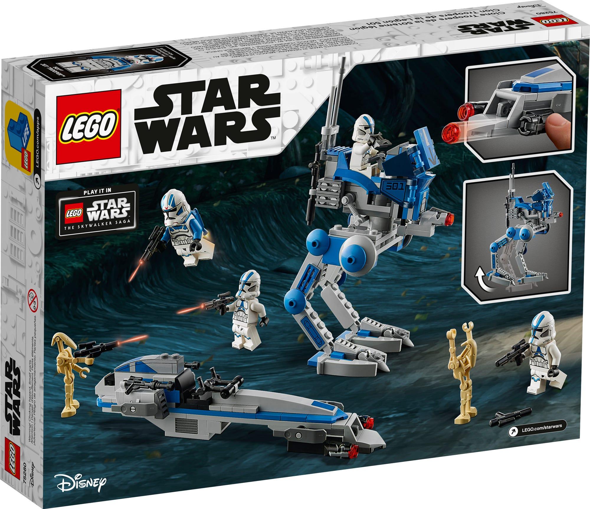 LEGO 75280 Star Wars 501st Legion Clone Troopers (Box Rückseite)