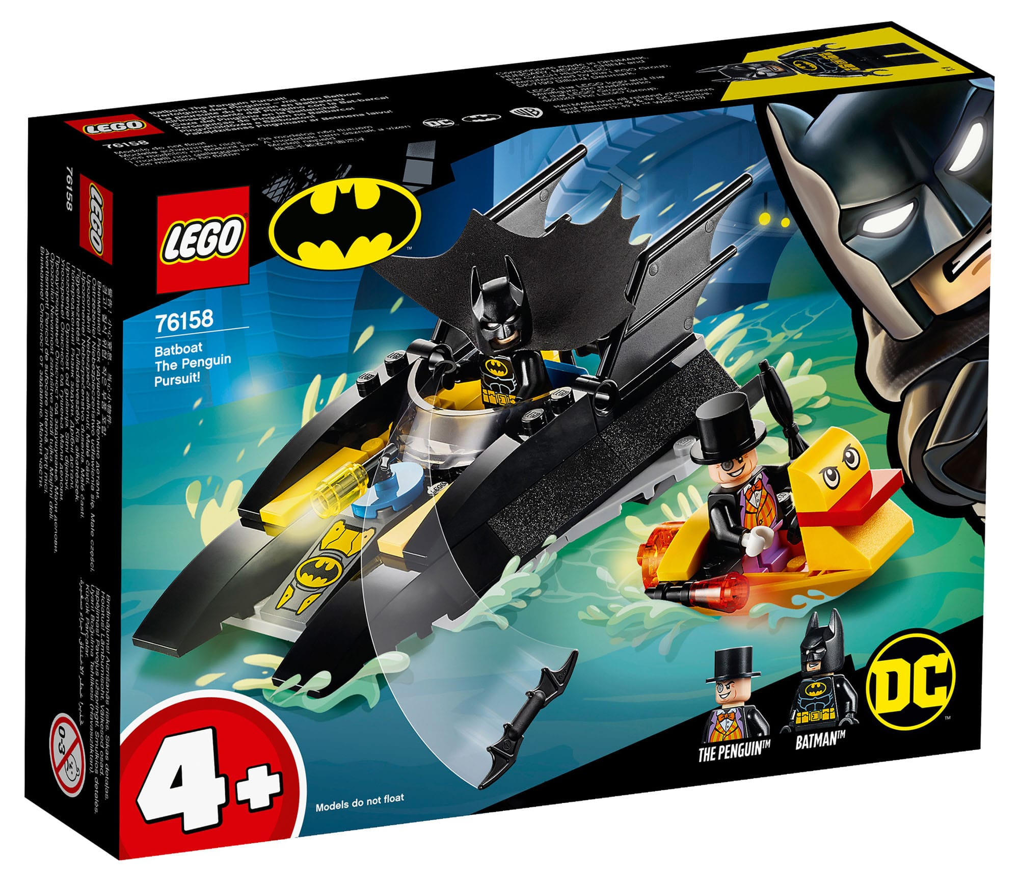 LEGO DC 76158 Batboat: The Penguin Pursuit (4+)
