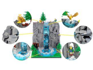 LEGO Ideas Wasserfall