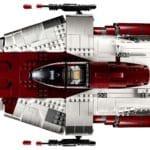 LEGO Star Wars 75275 UCS A-Wing Starfighter Ansicht von Oben