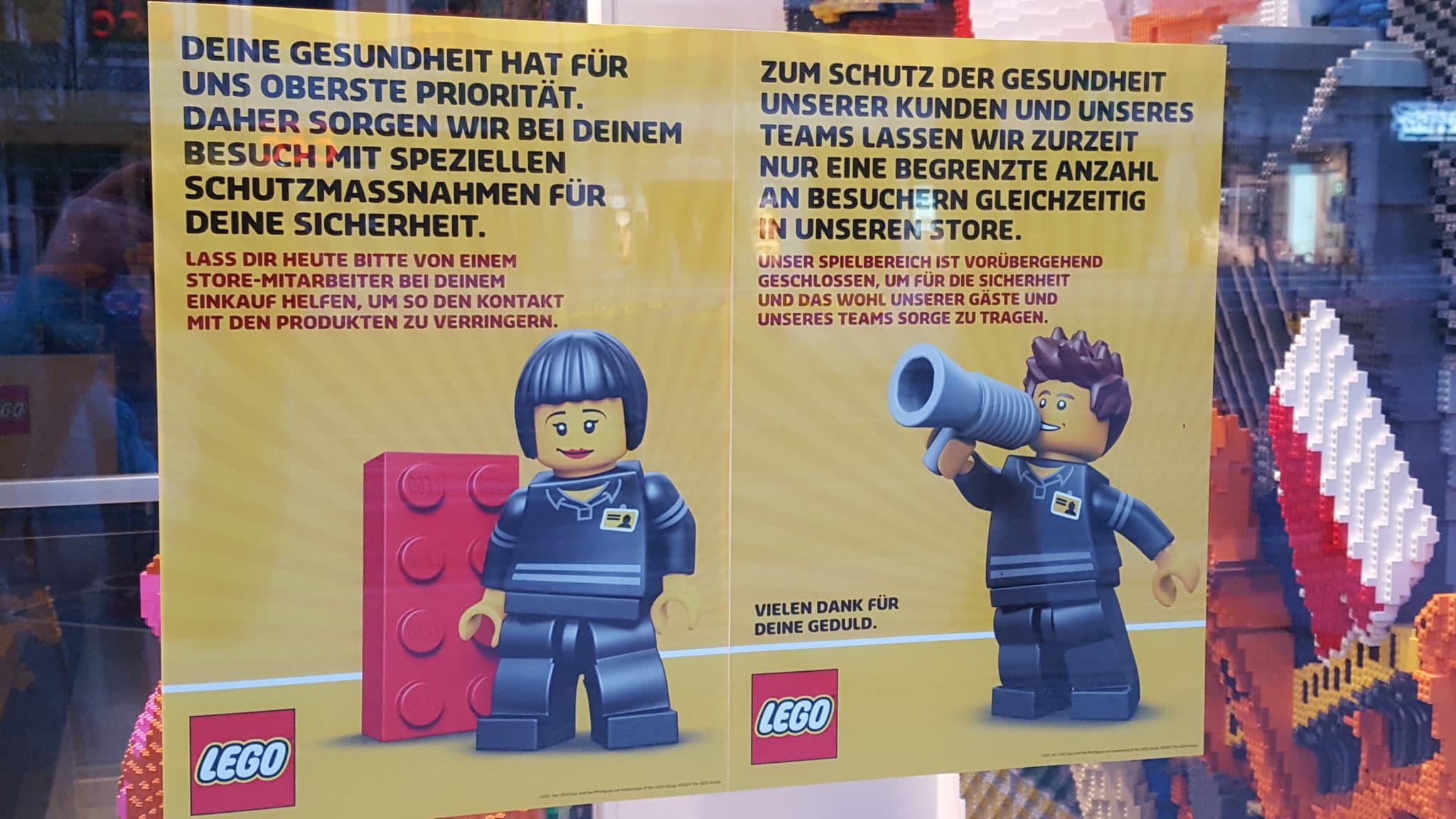 LEGO Stores Sicherheitsvorkehrungen COVID-19