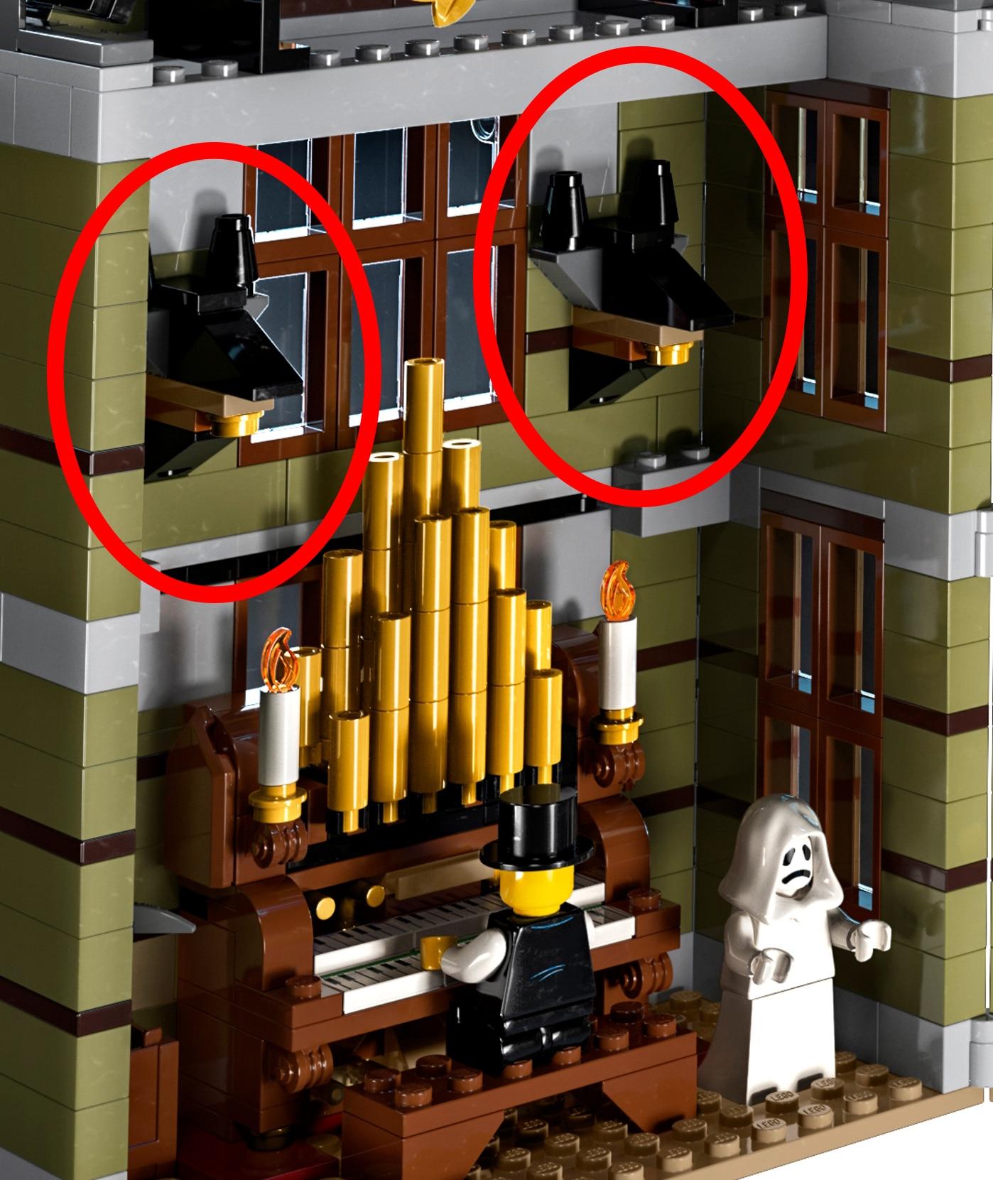 LEGO 10273 Anubis Koepfe