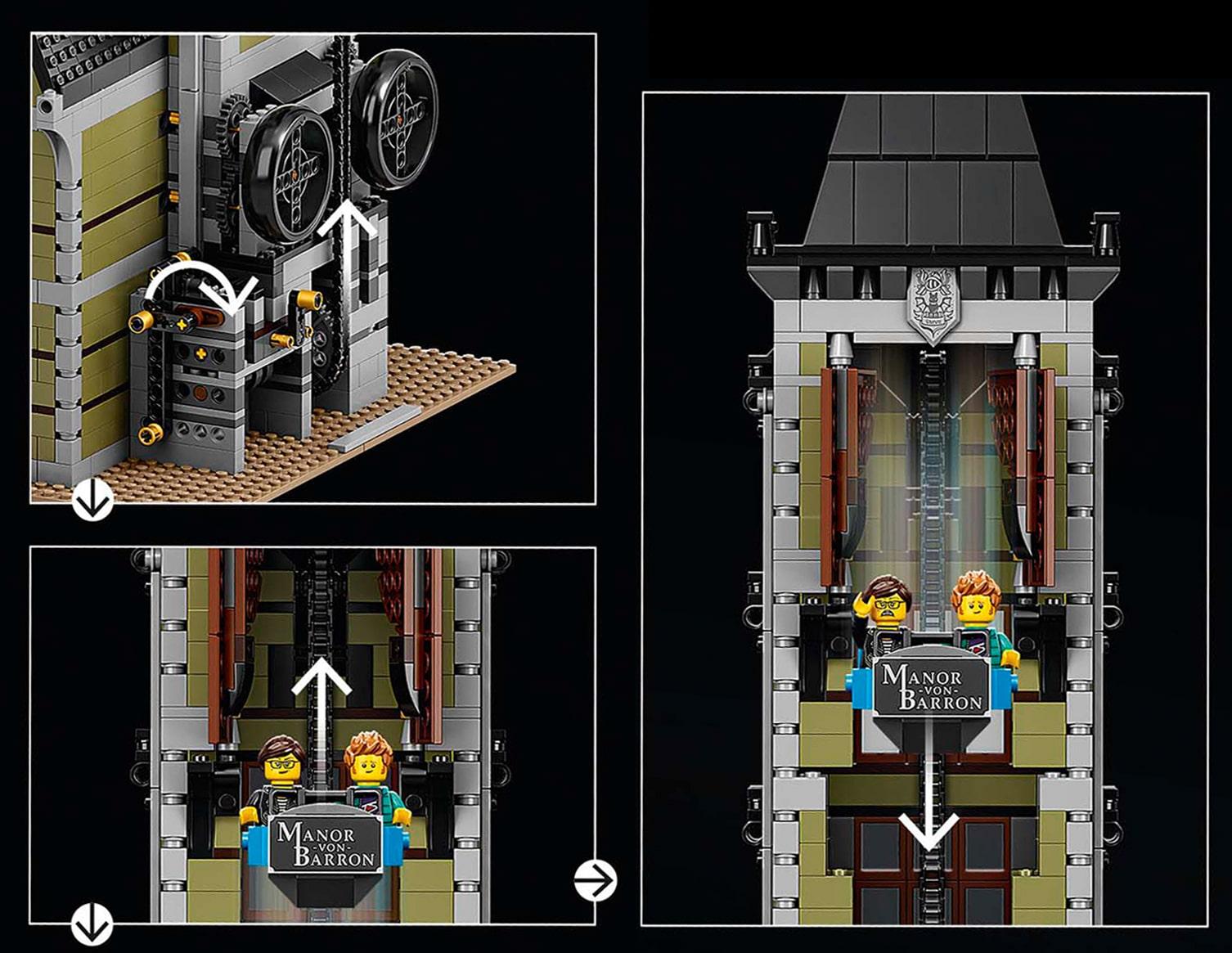 LEGO 10273 Haunted House Freefall Tower Function