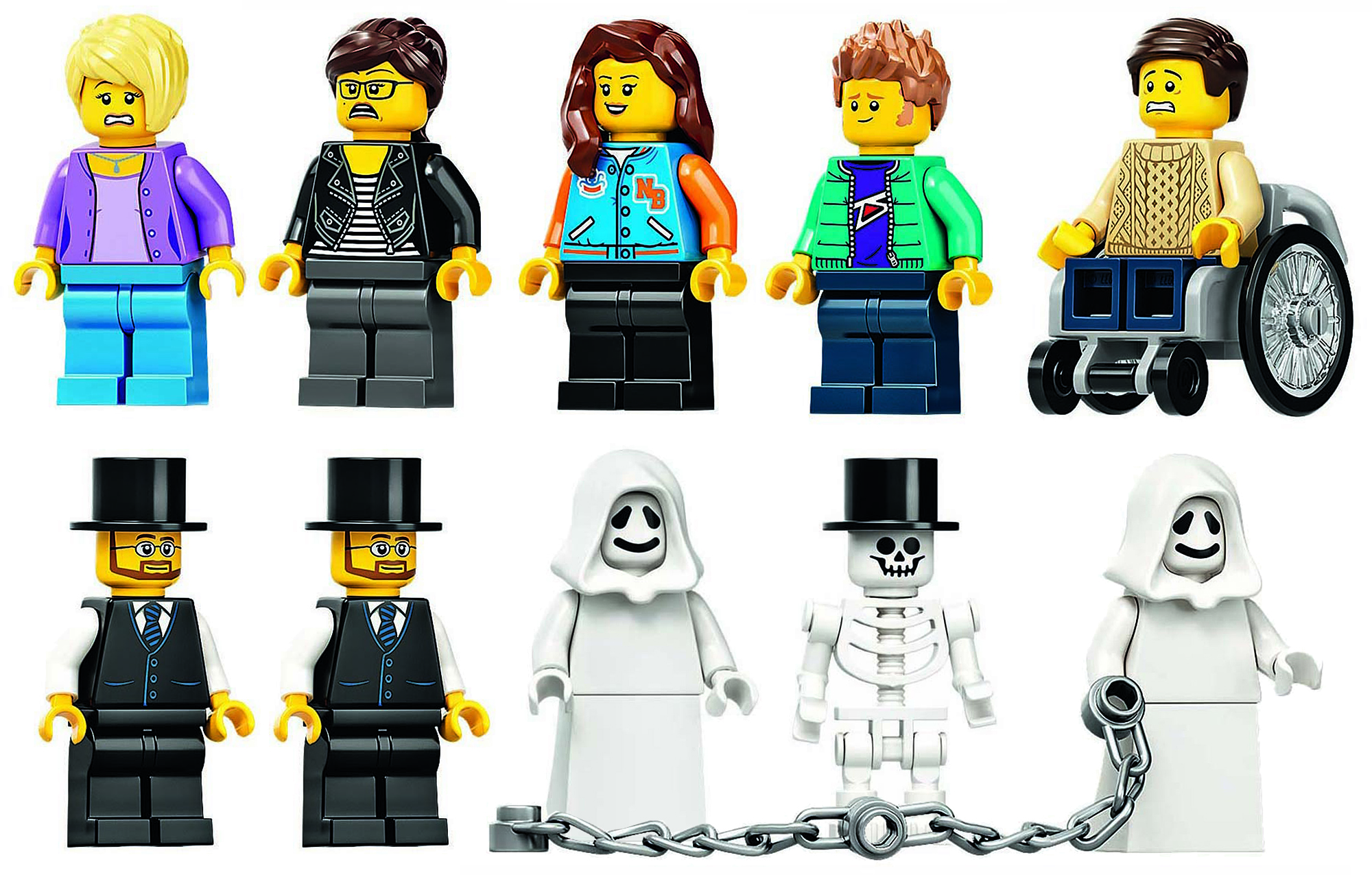 LEGO 10273 Haunted House Minifiguren