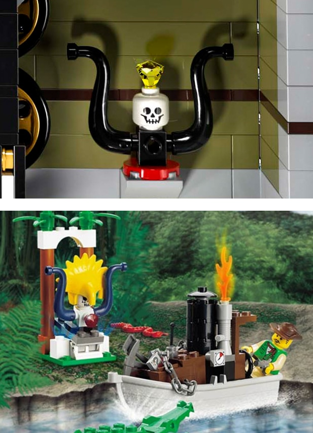 LEGO 10273 Totenkopf mit Tentakeln