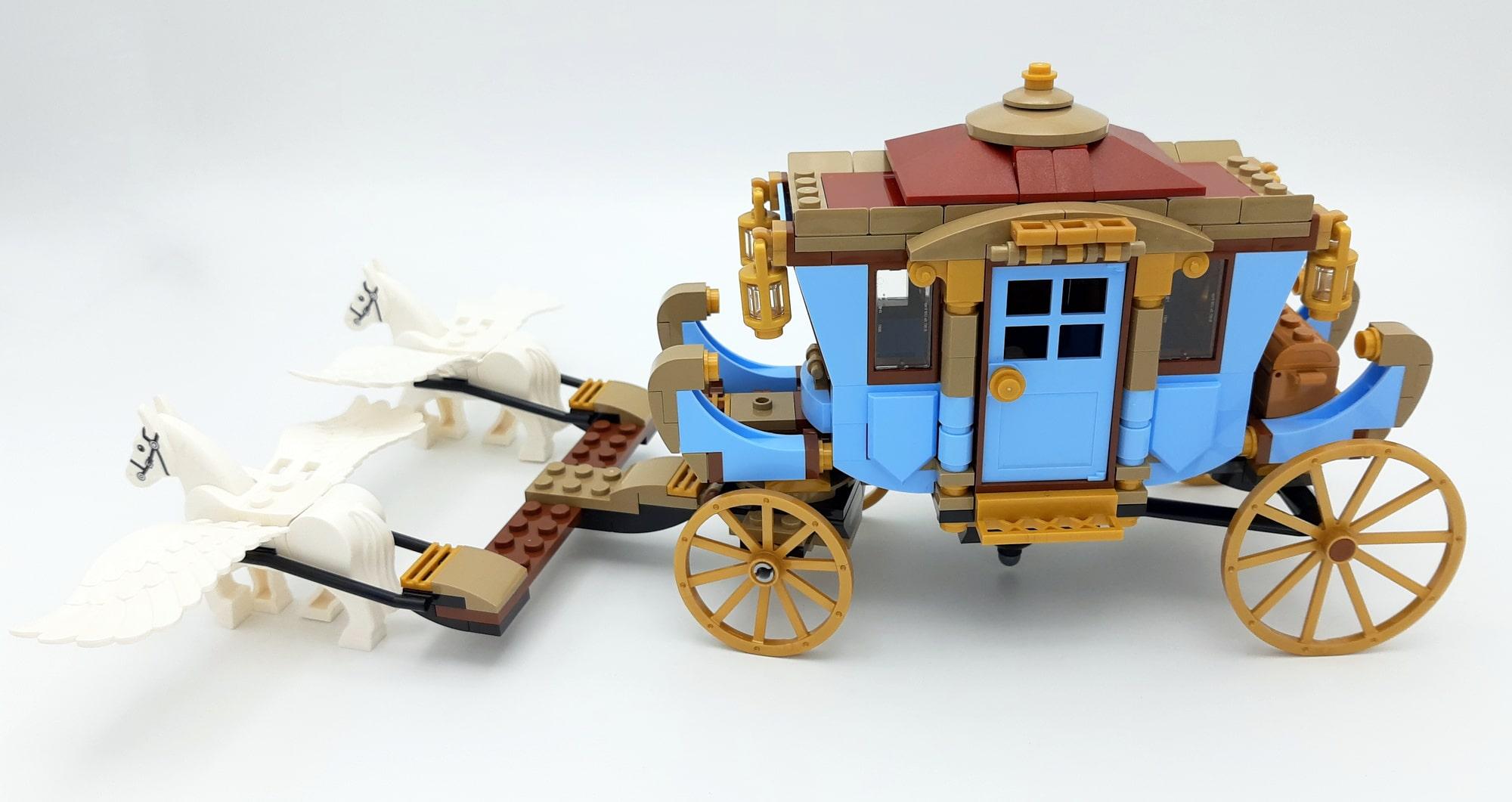 LEGO 75958 Harry Potter Beauxbatons Kutsche Bauabschnitt 3 Mit Pferden Seitlich
