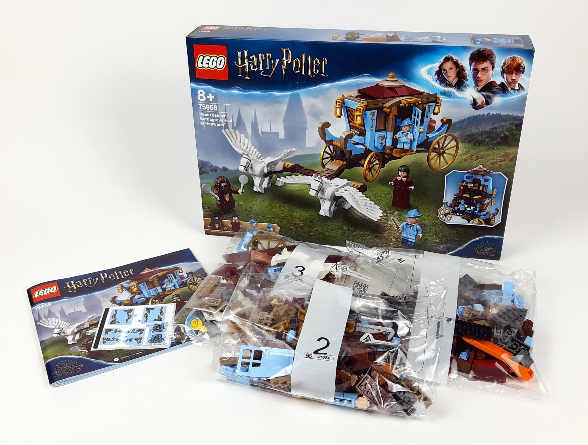 LEGO 75958 Harry Potter Beauxbatons Kutsche Box Und Inhalt
