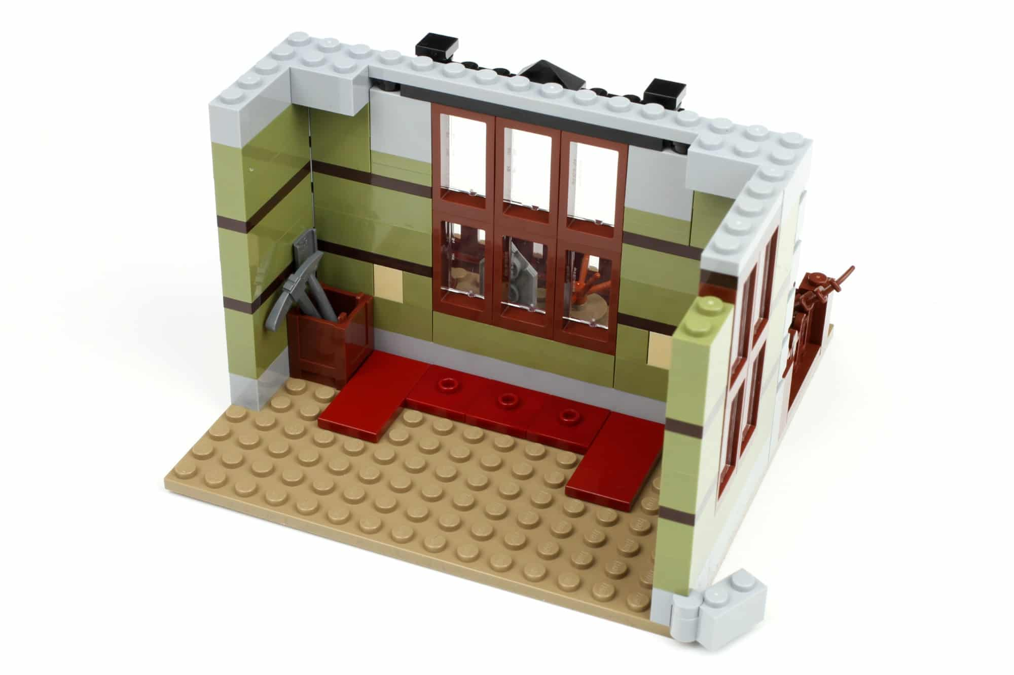 LEGO Fairground Collection 10273 Haunted House Aufbau Schritt 1 2