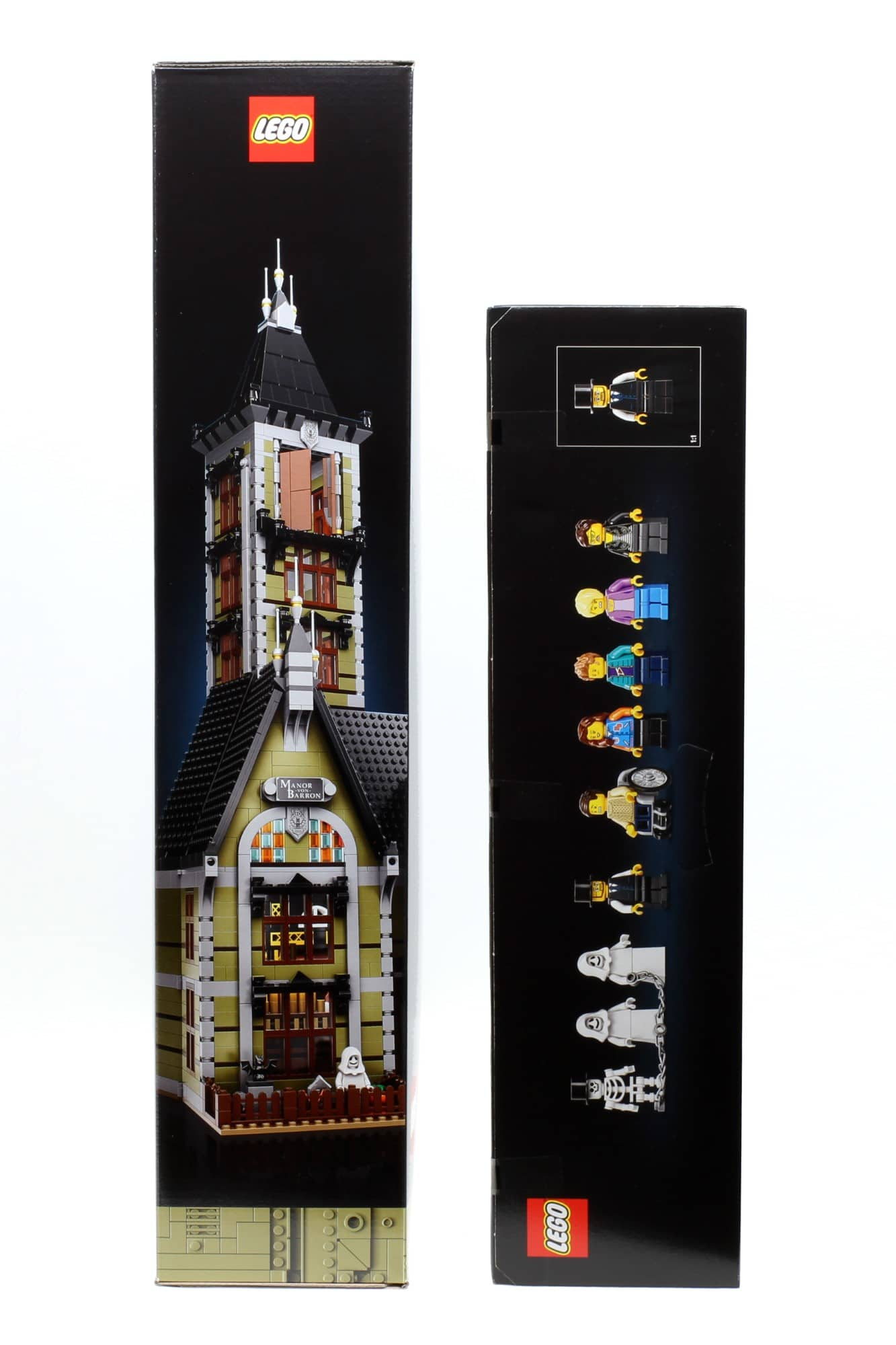 LEGO Fairground Collection 10273 Haunted House Box Schmalseiten