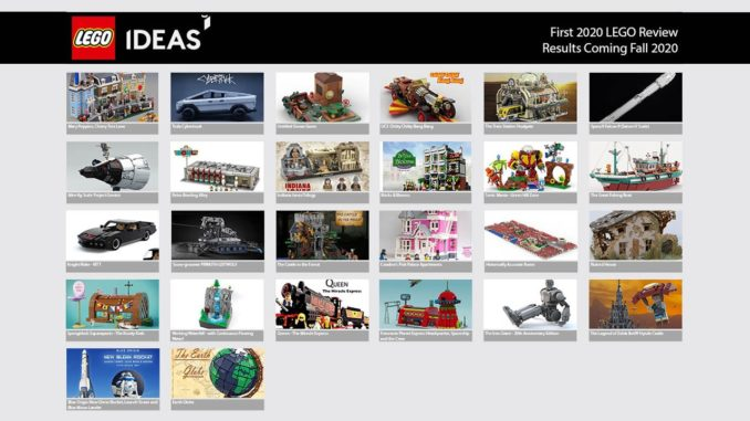 LEGO Ideas 1. Review Phase 2020