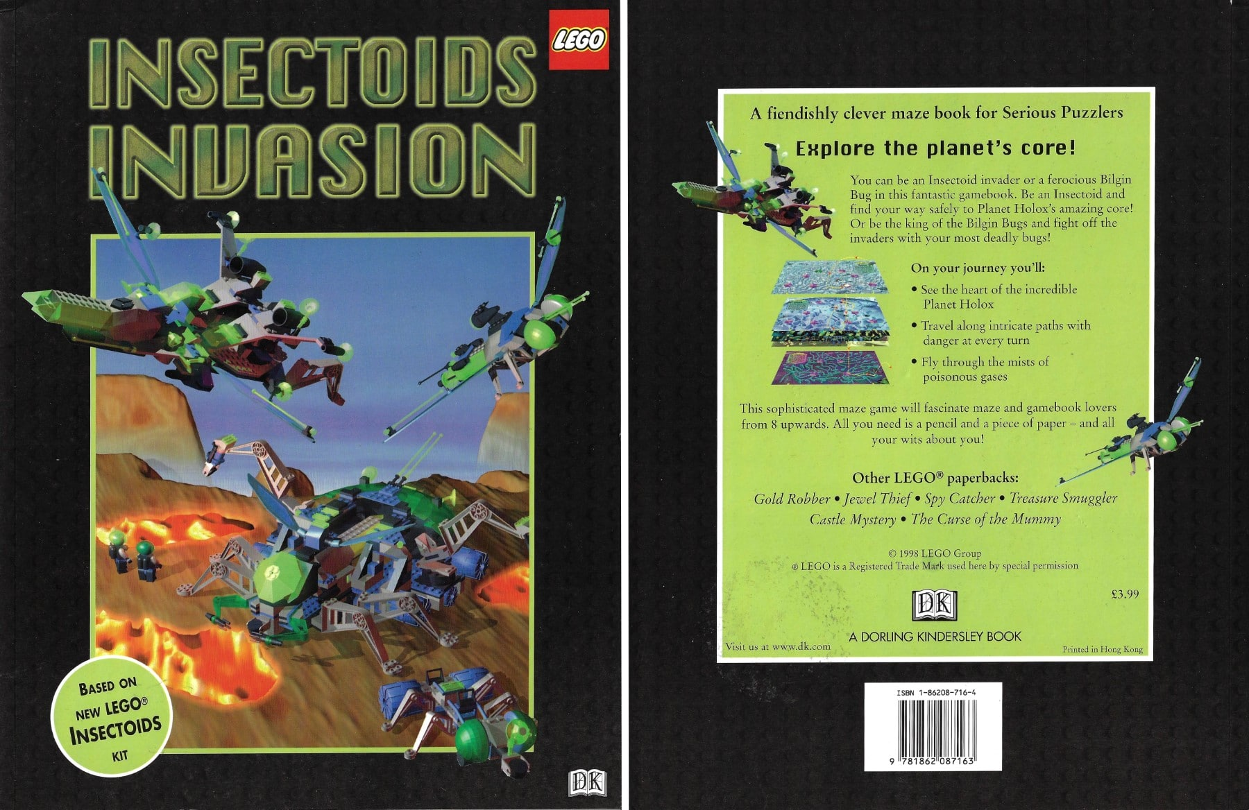 LEGO Insectoids Merchandise Buch Insectoids Invasion