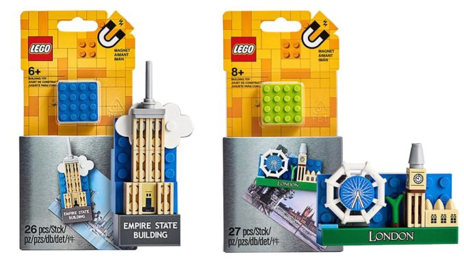 LEGO Magnete Empire State Building und London