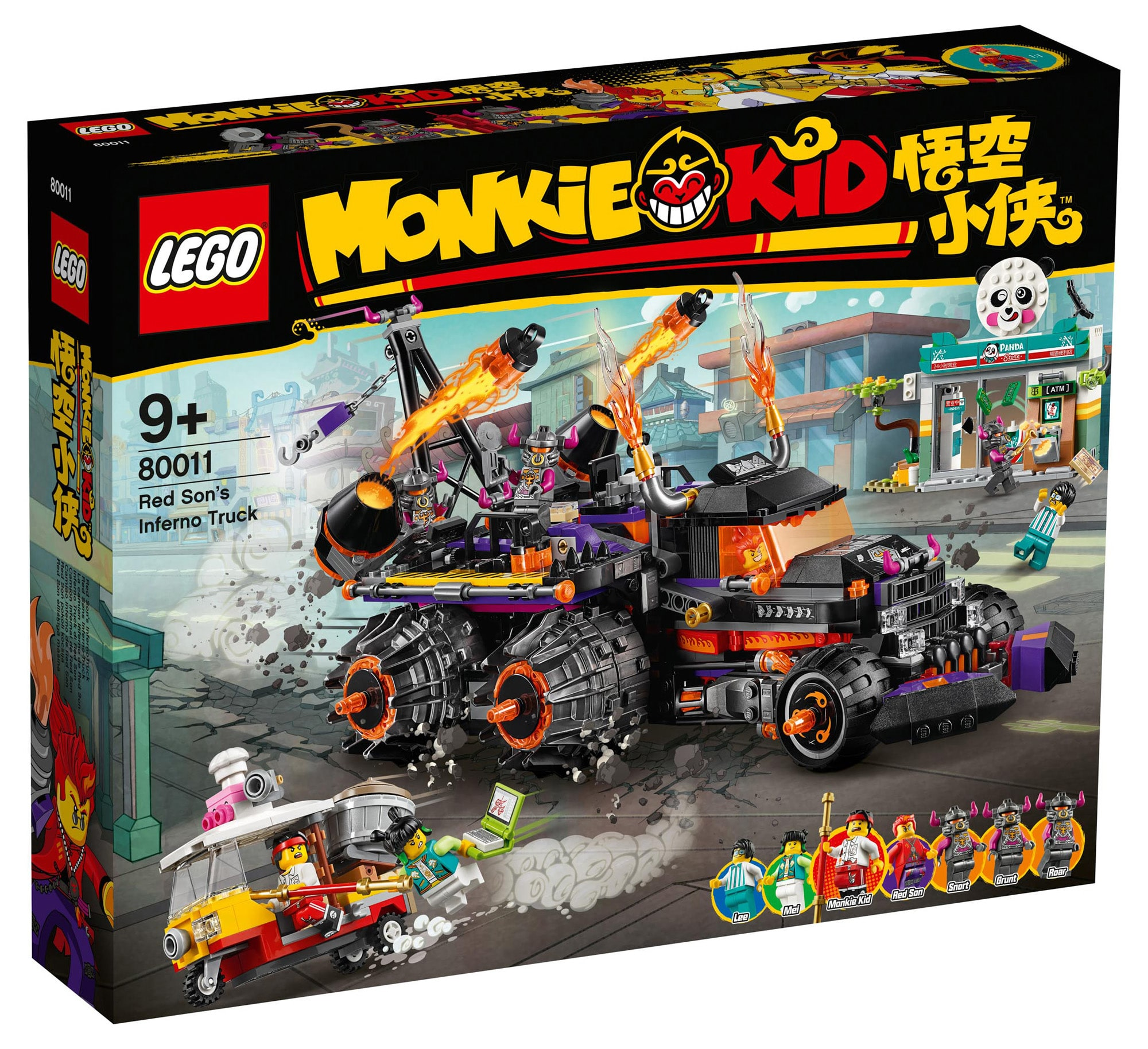 LEGO Monkie Kid 80011 Red Sons Inferno Truck