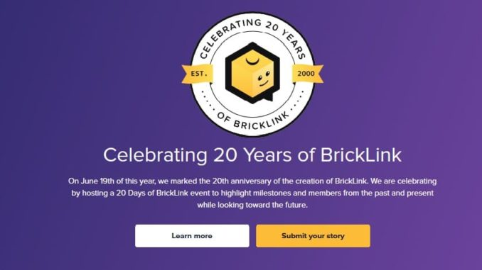 Bricklink 20 Years