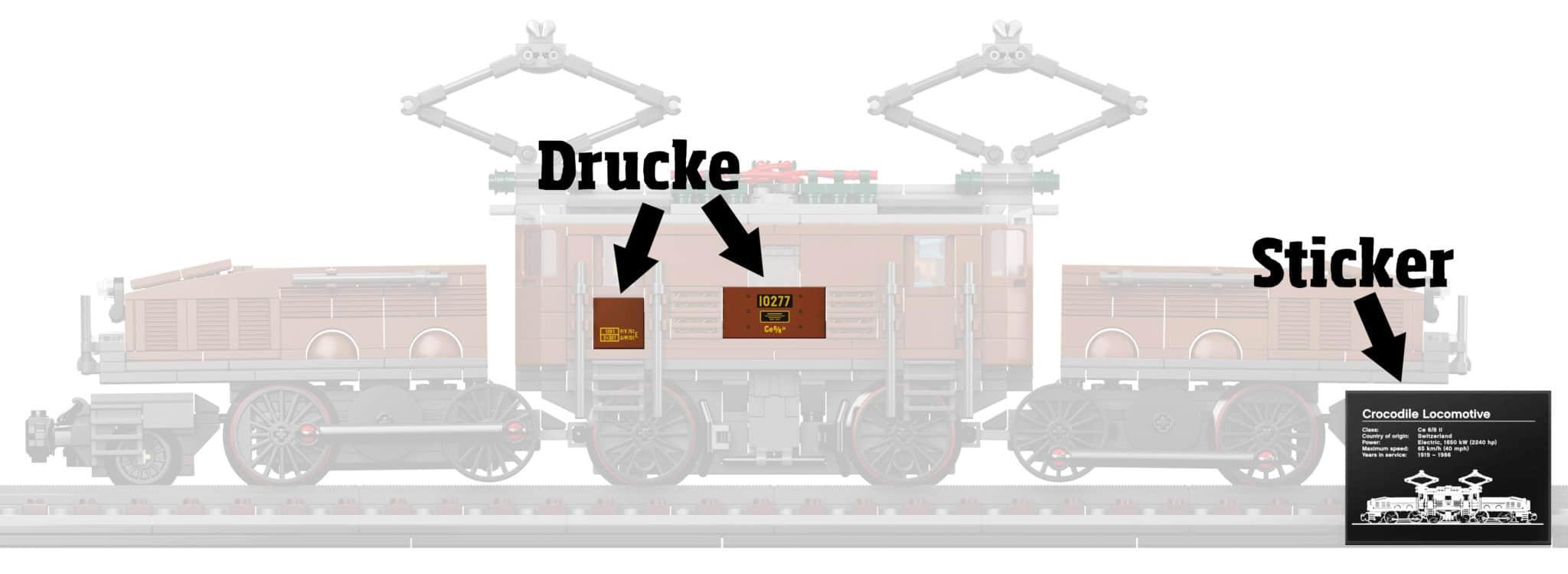 LEGO 10277 Drucke Sticker