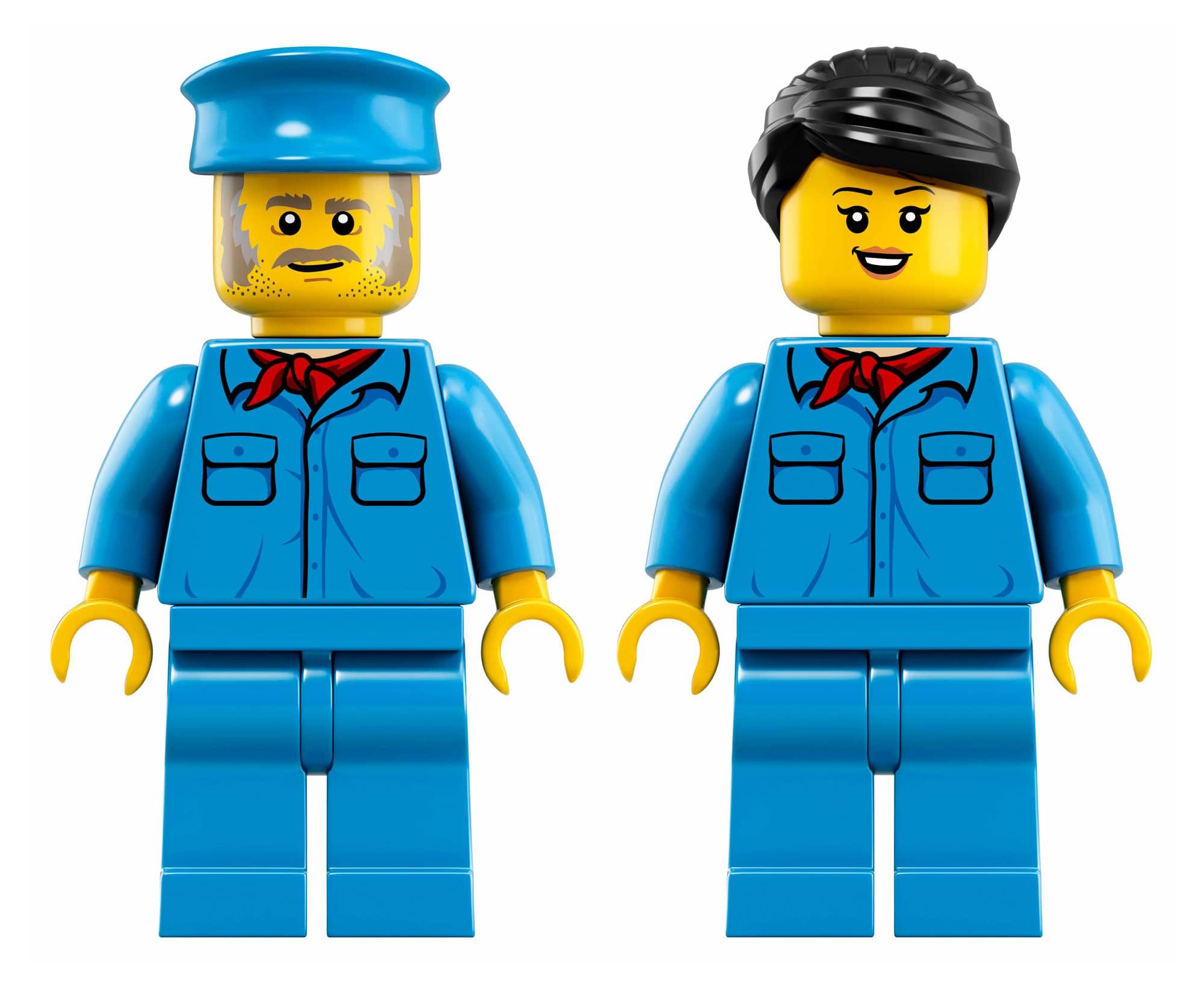 LEGO 10277 Krokodil Lokomotive Minifiguren
