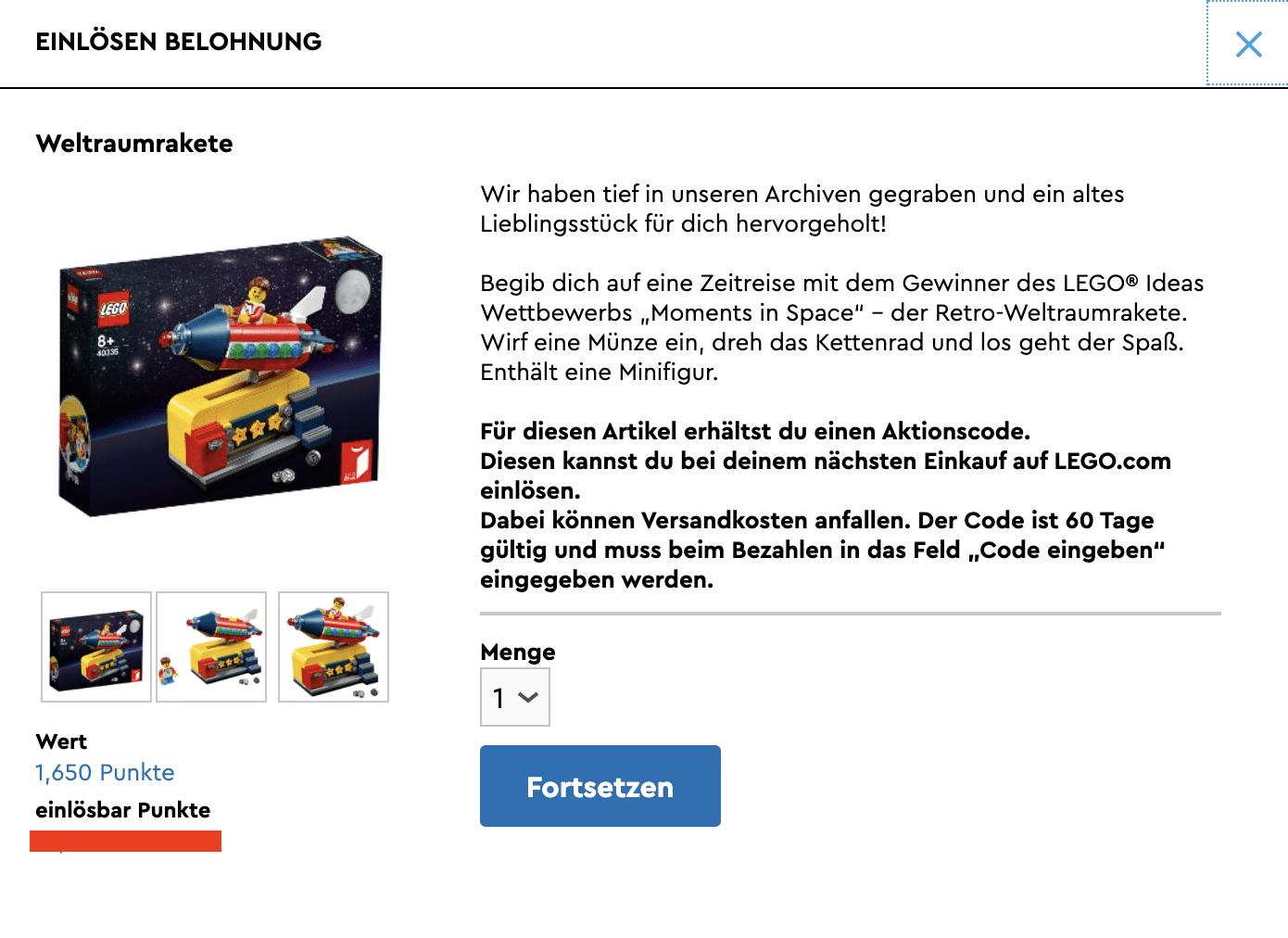 LEGO 40335 im VIP Prämien-Center