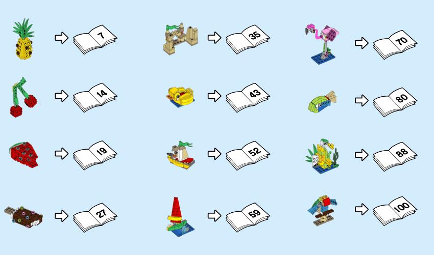 LEGO 40411 Creative Fun 12 In 1 Schritte