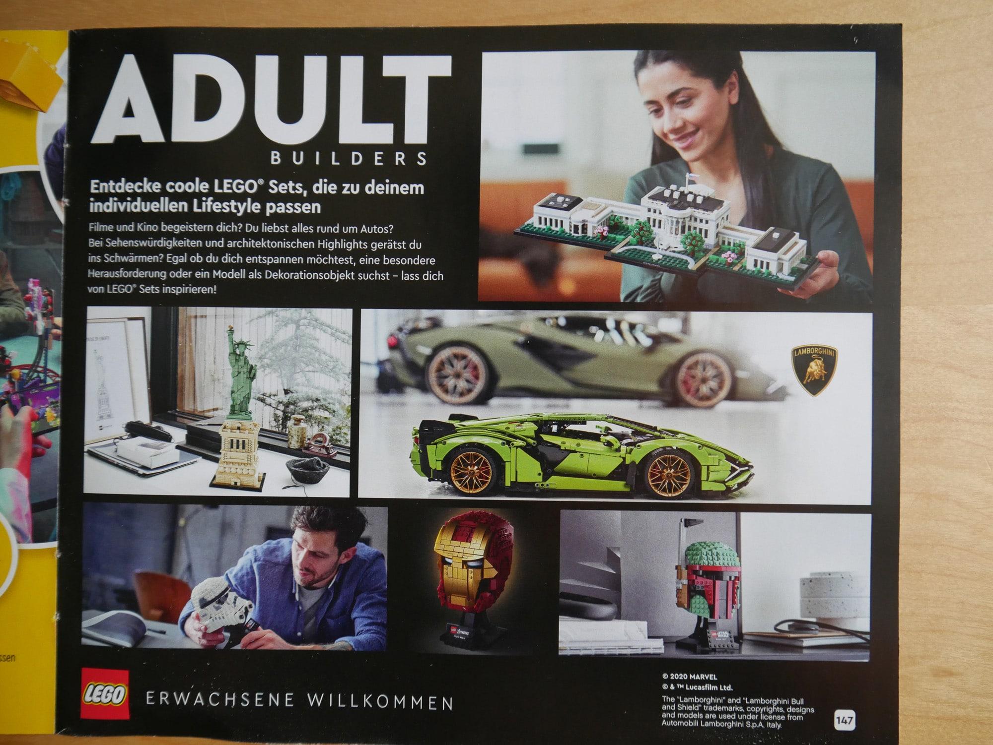 LEGO Adult Werbung LEGO Katalog