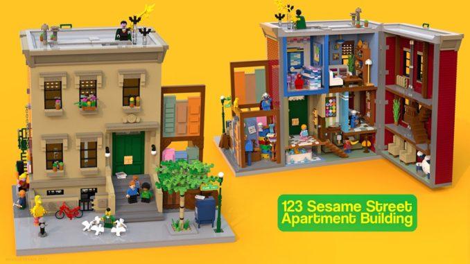 LEGO Ideas 21323 Sesamstrasse Entwurf 17