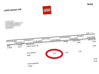 LEGO Mehrwersteuer Senkung