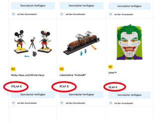LEGO Mehrwertsteuersenkung ab Juli 2020