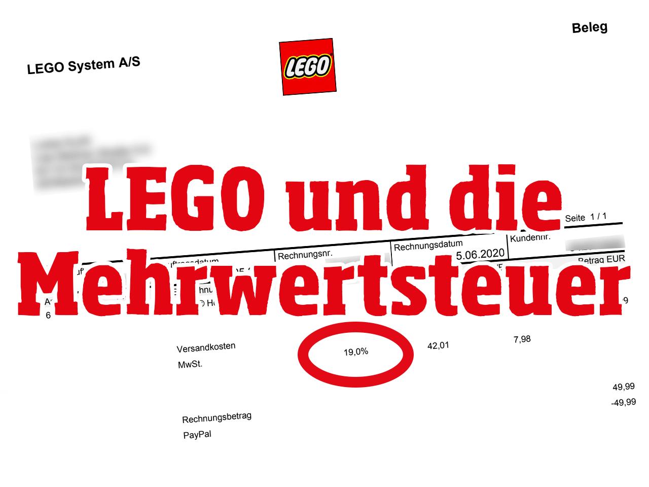 LEGO Mehrwertsteuer Senkung