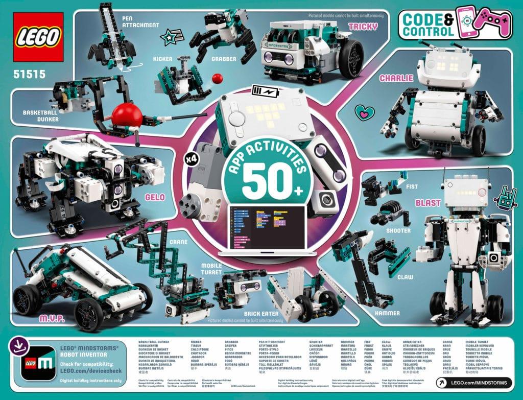 LEGO Mindstorms 51515 Robot Inventor (Box Rückseite)
