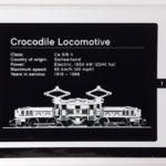 LEGO 10277 Krokodil Lokomotive - Aufkleber