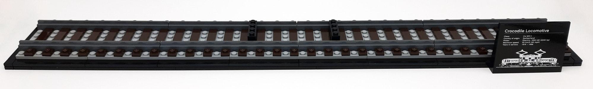 LEGO 10277 Krokodil Lokomotive - Bauabschnitt 1