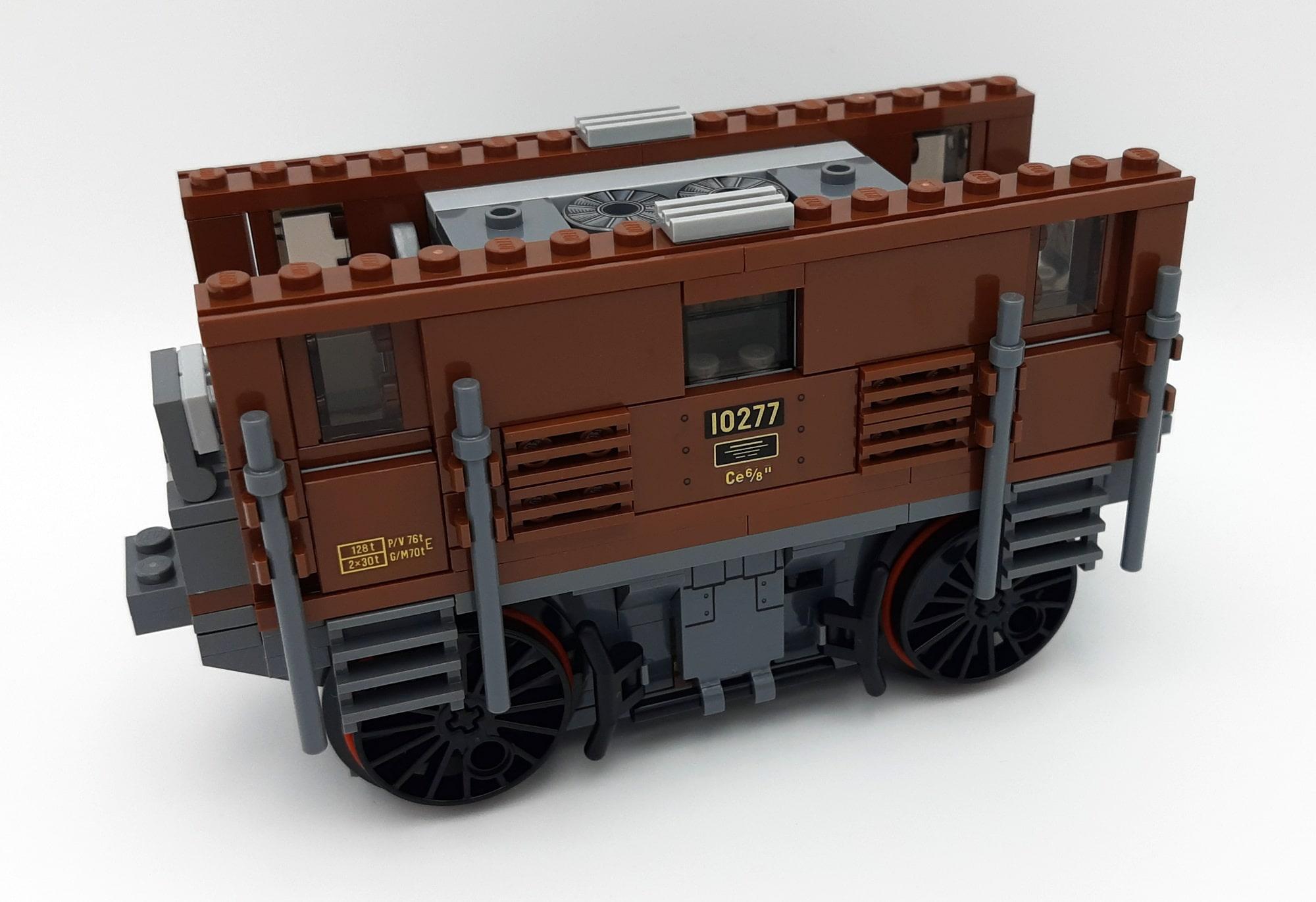 LEGO 10277 Krokodil Lokomotive - Bauabschnitt 2