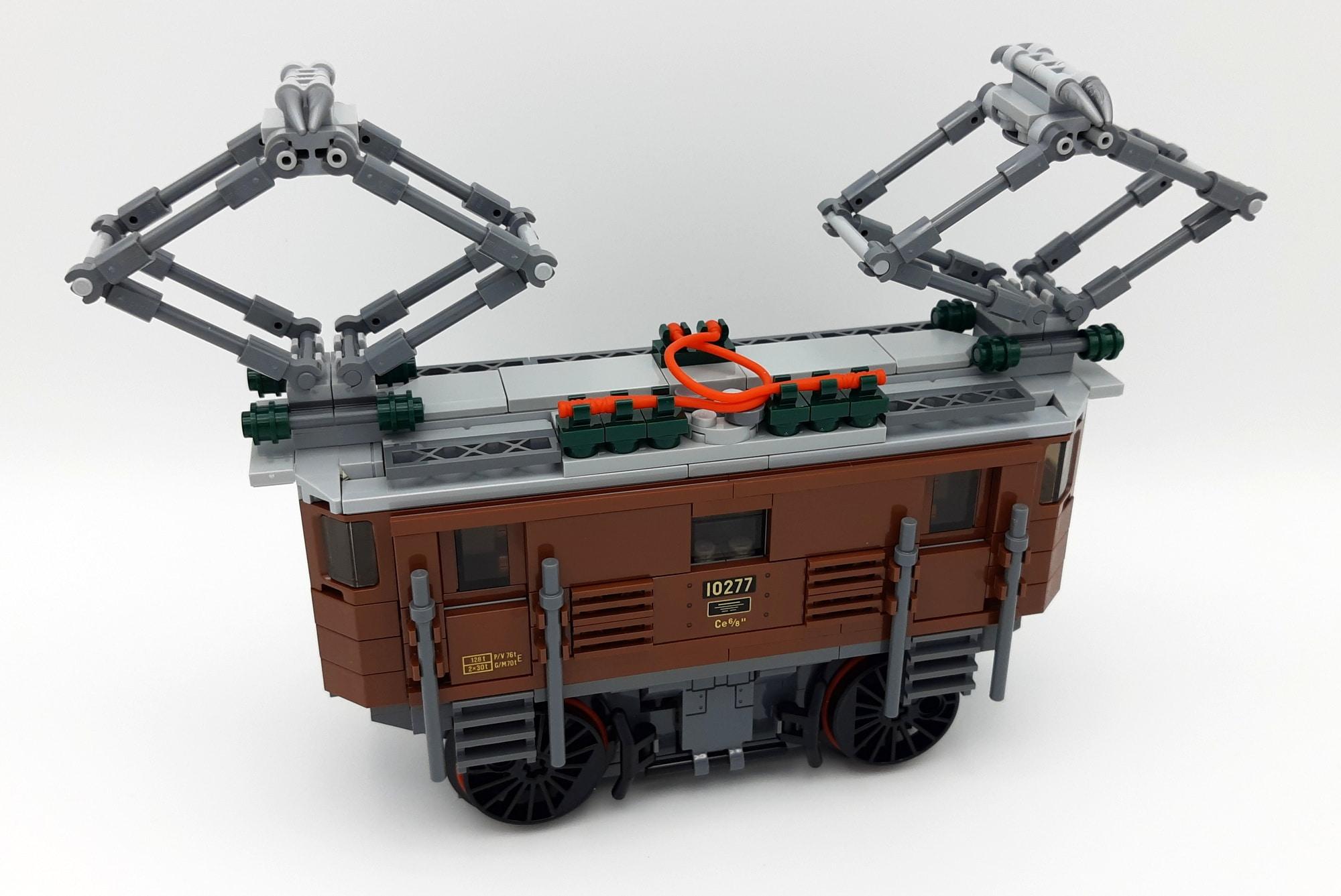LEGO 10277 Krokodil Lokomotive - Bauabschnitt 3
