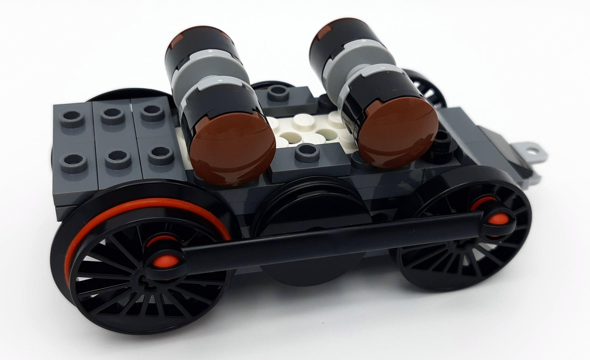 LEGO 10277 Krokodil Lokomotive - Bauabschnitt 4: Motor